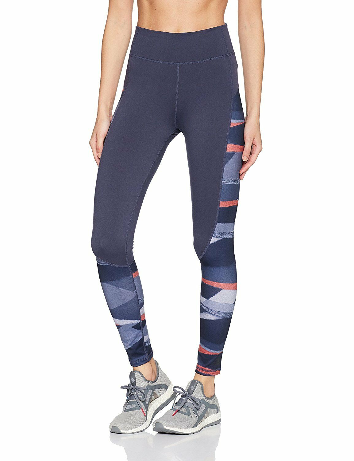 Adidas High Rise Long Printed Leggings bluee BQ5337 NEW