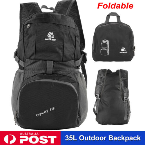 Foldable Waterproof Outdoor Sports Backpack Camping Hiking Travel School Bag 35L