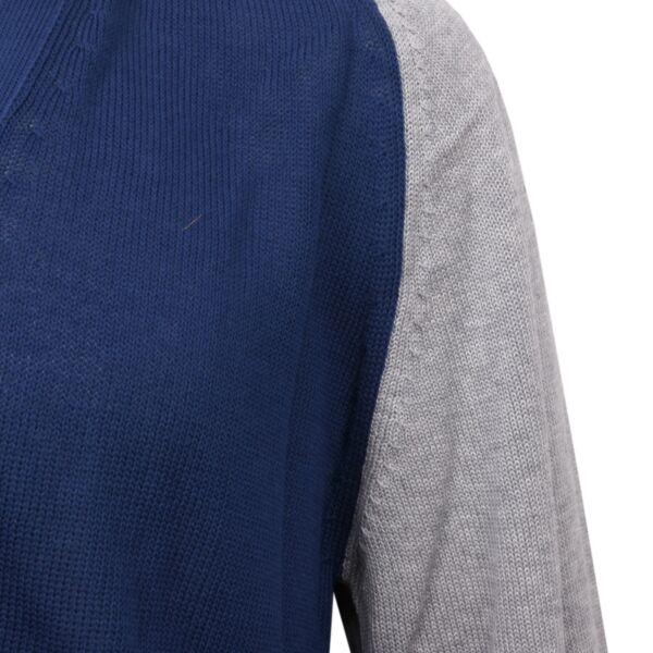 b719467957 C3358 maglione uomo PRIVATE LIVES cotone cardigan nolabel blu grigio ...