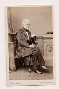 Vintage-CDV-Isaac-Taylor-philosophical-amp-historical-writer-artist-Inventor