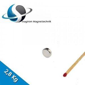 10 Aimants Néodyme Ø10x3 mm Ndfeb N45 Disques Magnétiques - Nickel