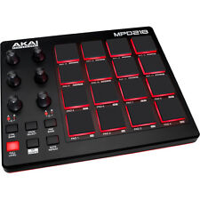 AKAI MPD218 USB / MIDI Drum Pad Controller with Software Download 16x pads