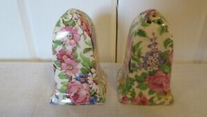 Antique-Chintz-Salt-Pepper-Sugar-Royal-Winton-Other-European-Pink-Roses-Daisies