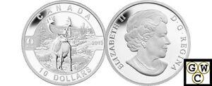 2013-039-Caribou-O-Canada-039-Proof-10-Silver-Coin-9999-Fine-NT-13125-OOAK