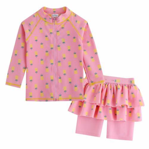 """Vaenait Baby Kids Girls Short Leggings Rashguard Swimsuit Set /""""Pineapple/"""" 2T-7T"""