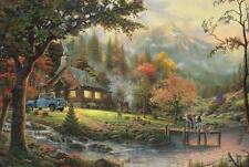 SCHMIDT JIGSAW PUZZLE PEACEFUL MOMENTS THOMAS KINKADE 500 PCS #58465