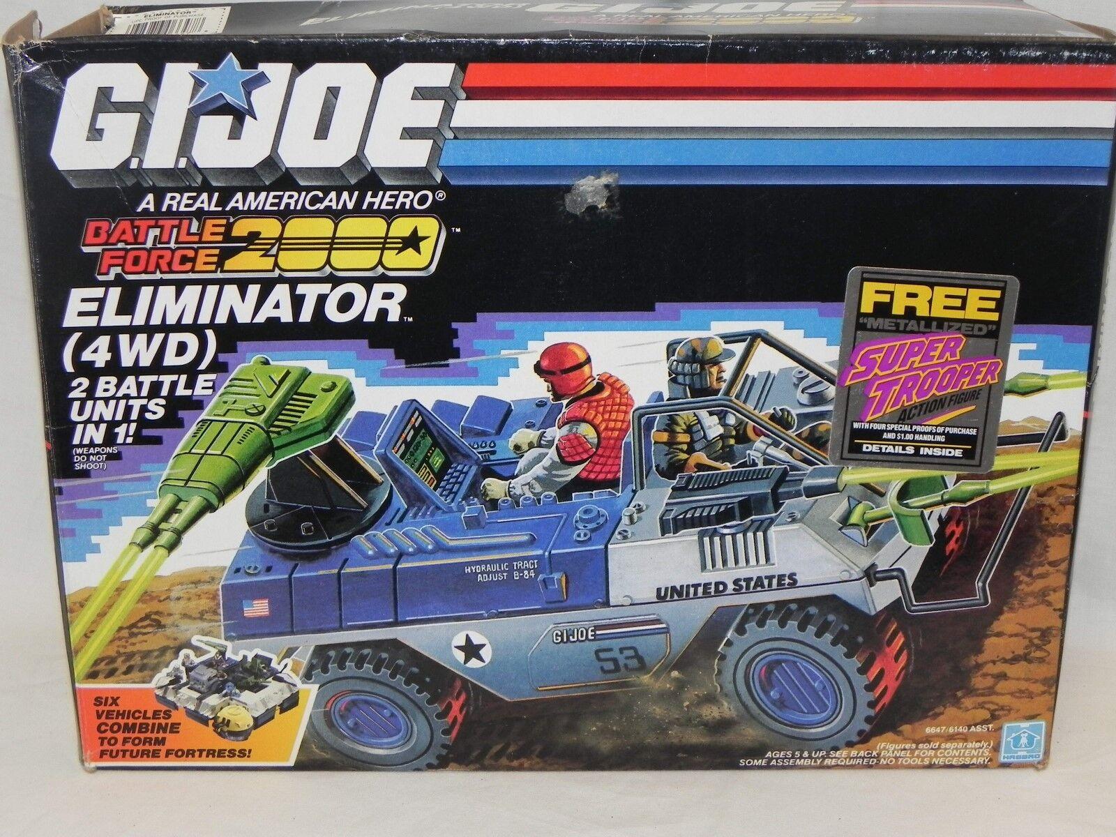 NEW Sealed 1987 GI Joe Battle Force 2000 Eliminator 4WD Vehicle 6647 6140 READ