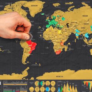 Rubbel Weltkarte Deluxe Scratch Off World Map Poster Karte