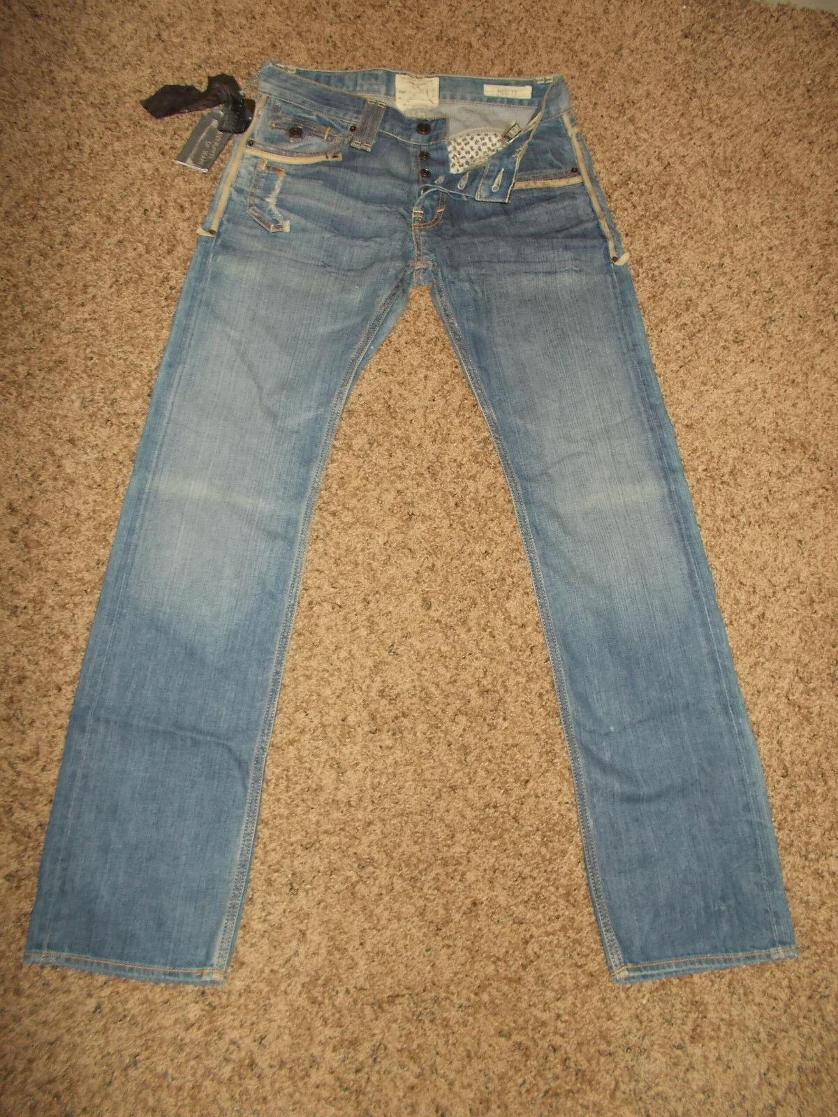 NWT  120.00 Jimmy Taverniti MEG 17 Denim Jeans 30x32 Women's Straight Leg sku2