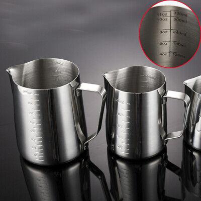 Edelstahl Milchschaumkrug Milchschaumbecher Kaffeemaschine Krug L0R6