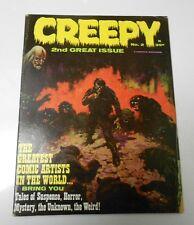 1965 CREEPY #2 DAVIS Crandall FRAZETTA Evans MORROW Williamson VG