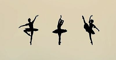 3x Ballet Dancer Wall Art Graphic Stickers Girl Living Room Decor Dance Decal