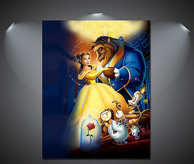 A4 Sizes Beauty and the Beast Vintage Movie Poster A2 A1 A3
