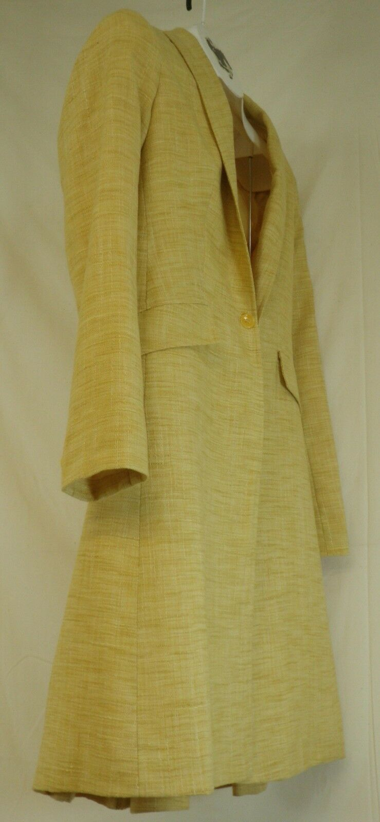 Reed Hill Ladies Saddleseat Day Coat Yellow Linen Poly   Blend size 20 - USA