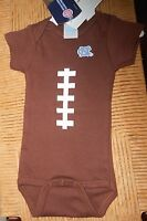 Unc North Carolina Tarheel Infant One Piece Brown Football Future Tailgater
