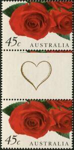 Australia-1999-SG1843-Roses-gutter-pair-MNH