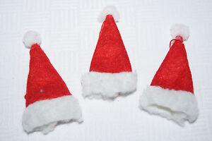 nikolausm tze filz basteln deko tischdeko weihnachten rot wei 3st ebay. Black Bedroom Furniture Sets. Home Design Ideas