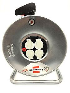 brennenstuhl garant s 4 kabeltrommel leer bis 50m kabel stahlblech 1198510 ebay. Black Bedroom Furniture Sets. Home Design Ideas