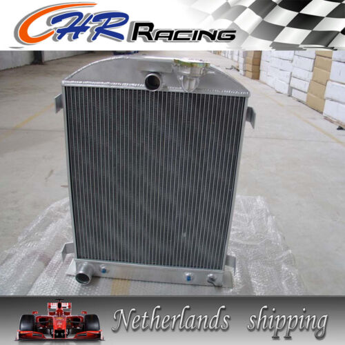 new 3core 1932 32 FORD HIBOY HI-BOY CHOPPED FORD ENGINE Aluminum Radiator