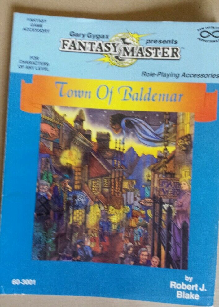 Town of baldemar gary gygaxs l Fantasy master rpg roleplaying book