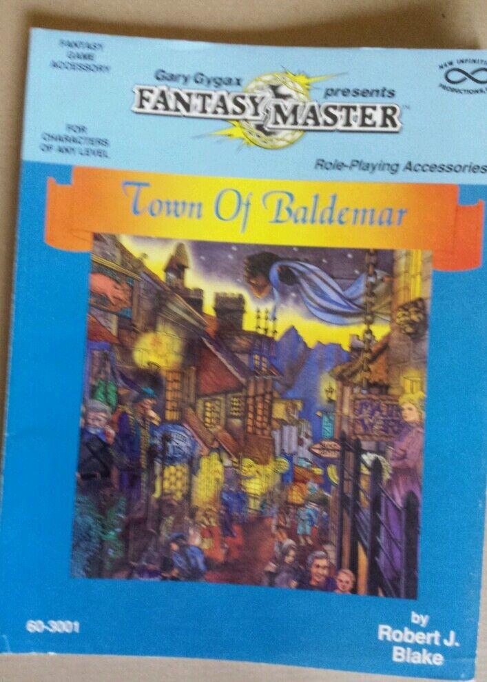 Town of baldemar gary gygaxs l Fantasy master rpg roleplaying book