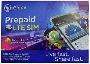Details about GLOBE ROAMING Prepaid SIM Card Philippines Mini Micro Nano 4G  LTE with LOAD