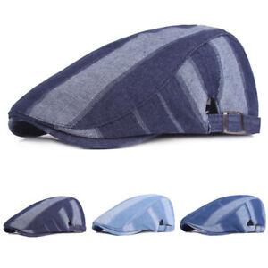 Hommes-elegant-haute-qualite-Denim-Conduite-Golf-Cap-Reglable-Newsboy-beret-chapeau-nouveau
