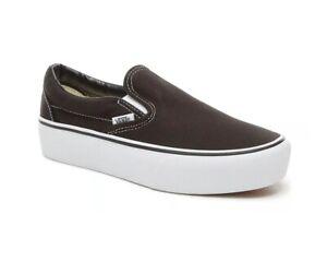 VANS-CLASSIC-SLIP-ON-PLATFORM-Scarpe-Donna-Sneakers-Canvas-BLACK-VN00018EBLK