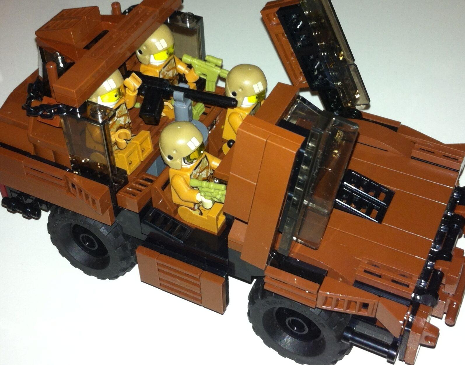 ORIGINALE Lego nuove parti - 4 SOLDATI + AUTOBLINDA-IL MIO Design-Custom Arma