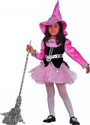 Vestito Costume Carnevale Dolce Streghetta Strega Fata 1 2 3 4 5 6 7 Anni