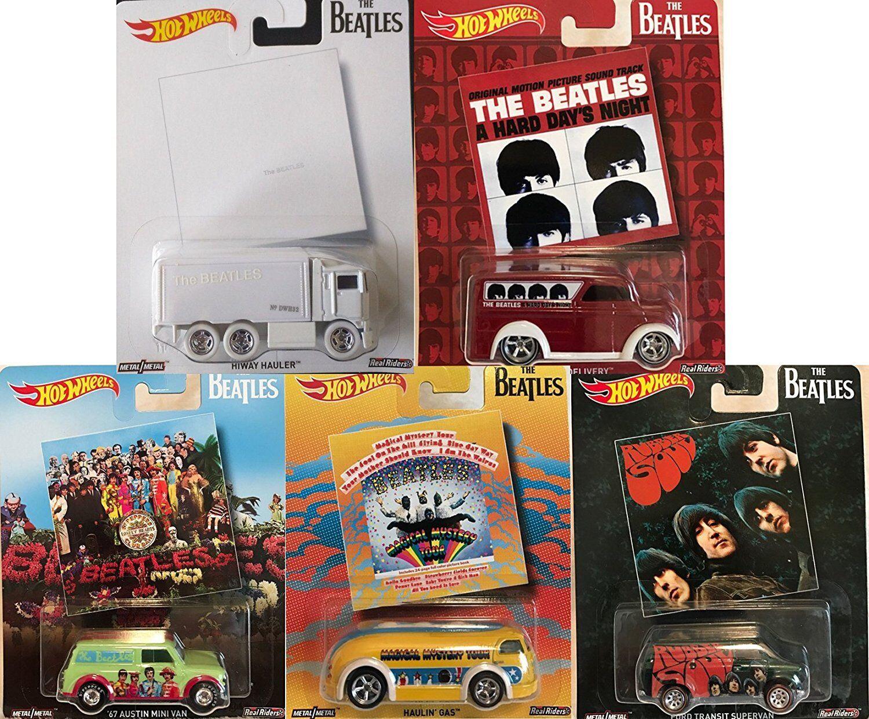 Hot Wheels Pop Culture The Beatles, Premium Adult Collectible Diecast Cars, Set
