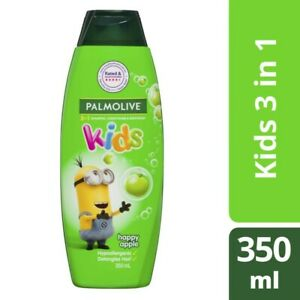 Palmolive Kids 3 In 1 Happy Apple Shampoo Conditioner & Body Wash 350mL
