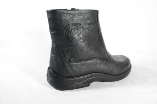 Jomos Herren Stiefel Winterstiefel Boots schwarz Leder Lammfell 406502 Neu!