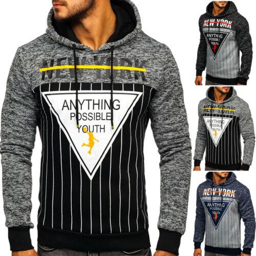 Kapuzenpullover Hoodie Pulli Sweatshirt Classic Print Herren BOLF 1A1 Aufdruck