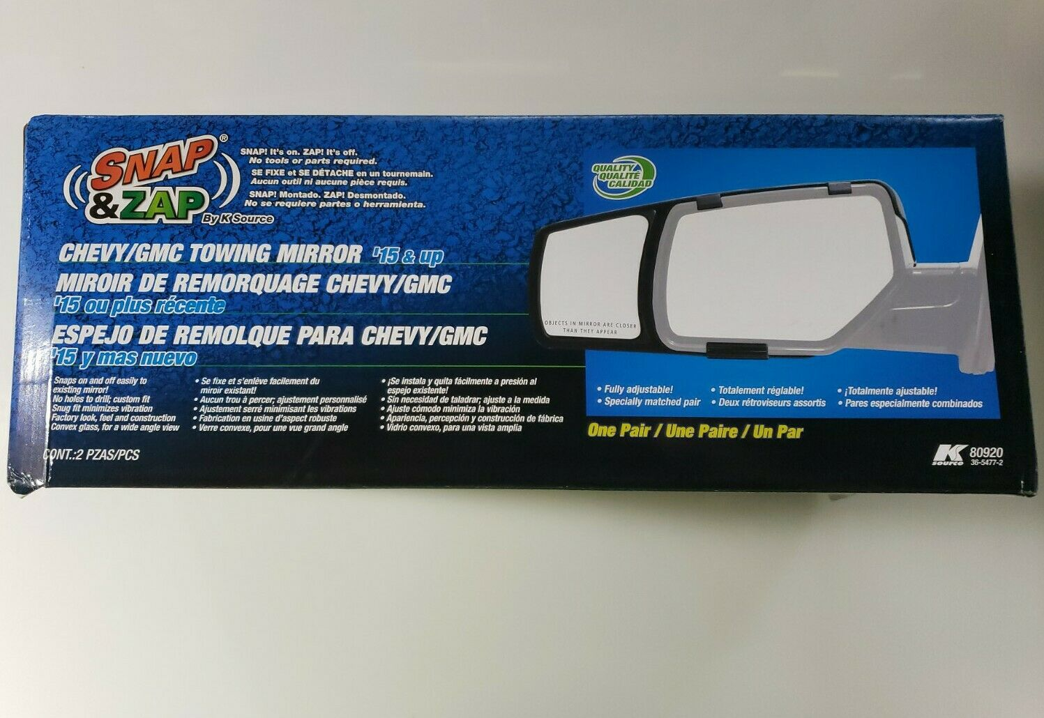 K-Source 80920 Exterior Towing Mirror Left and Right