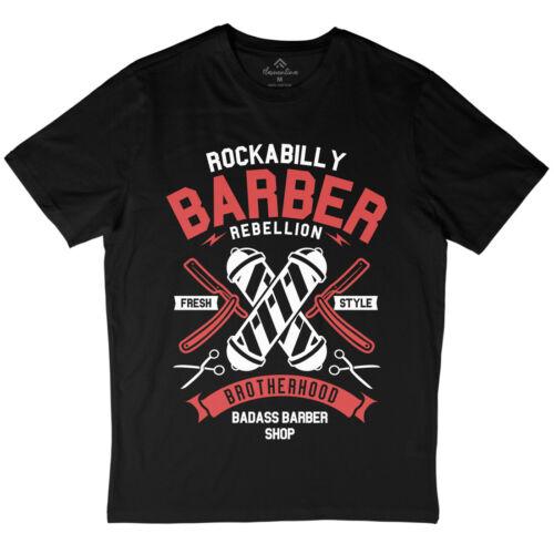 Rockabilly T-Shirt Barber Guitares Barbe Gaspillé Stoner Groom rasage coupe de cheveux A273