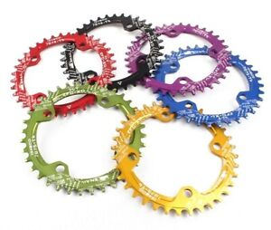 MTB-XC-Bike-Single-Narrow-Wide-Chainring-Oval-BCD-96-104mm-30-32-34-36-38-40-42T