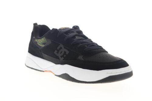 DC Penza SE ADYS100550 Mens Black Suede Lace Up Athletic Skate Shoes