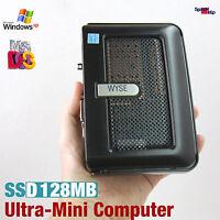 ULTRA MINI KLEIN HAND COMPUTER PC 1GHZ  DOS WINDOWS XP 2000 DVI SSD ALTE SPIELE