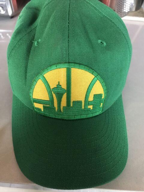 Retro NBA Seattle Sonics Hats SUPERSONICS Caps FITTED SIZE 7 1/2