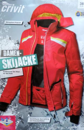 Damen Skijacke S M L abnehmb Kapuze Snowboardjacke Winterjacke Schneejacke NEU
