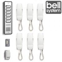 Bell906 6 Way System Audio Door Phone Intercom Electric Lock Kit Power Supply