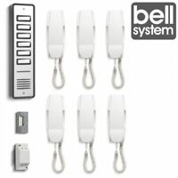 Bell906 6 Way System Audio Door Phone Intercom Electric Lock Kit Power Supply