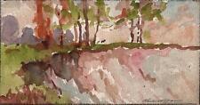 MARCUS ADAMS Watercolour Painting IMPRESSIONIST CHALK PIT LANDSCAPE c1940
