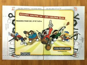 Codename-Kids-Next-Door-CARTOON-NETWORK-2002-Vintage-Print-Ad-Poster-Official