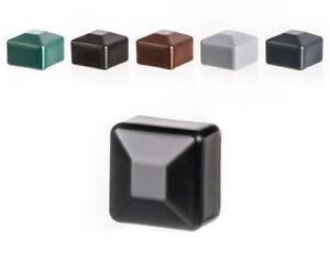 Zaunpfahlkappe-quadratisch-Kunststoff-Pfostenkappe-Zaunkappen-Kappen-Deckel