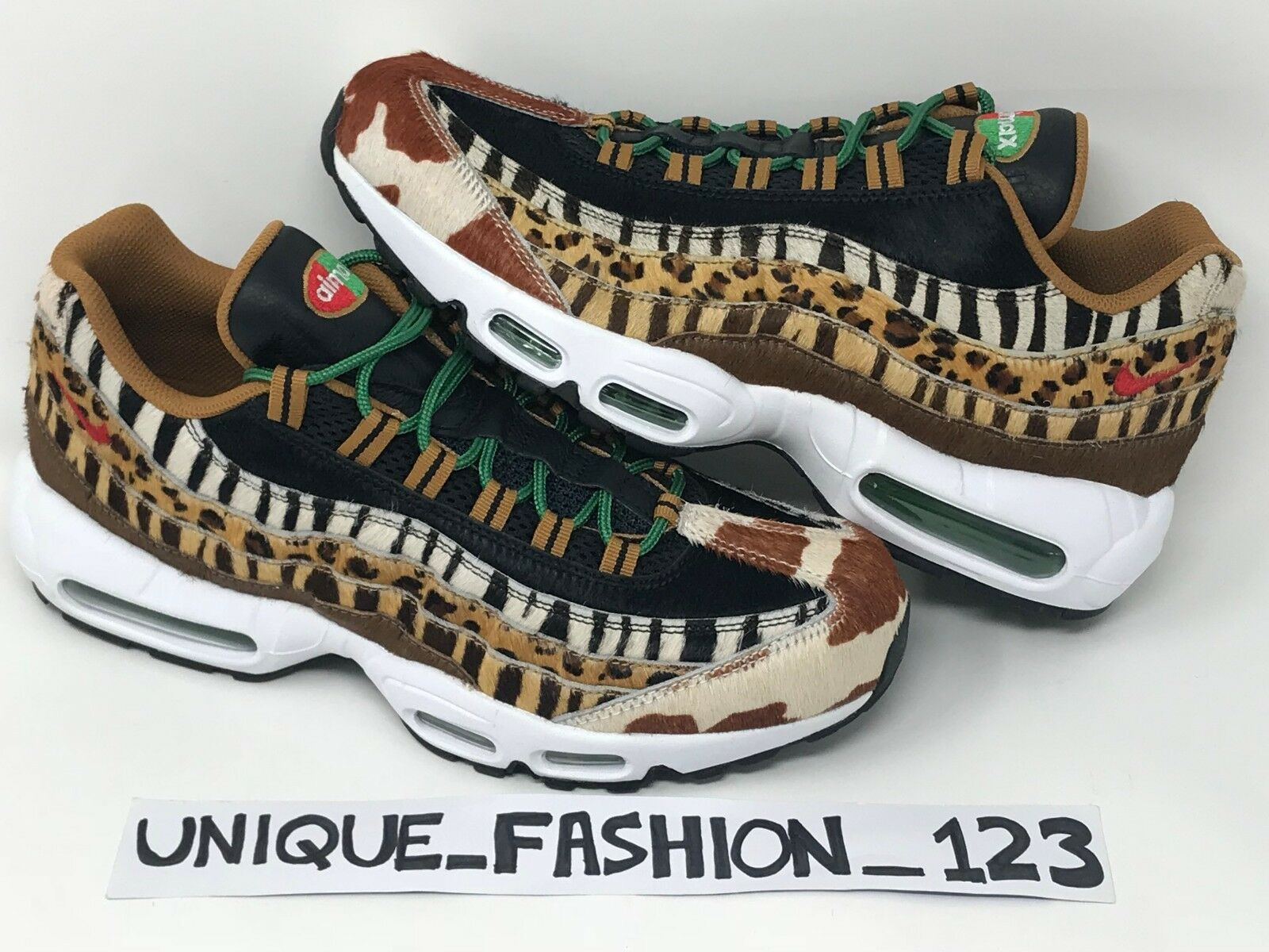 0f62751d0f NIKE AIR MAX 95 X ATMOS ANIMAL PACK 2.0 UK 4 5 6 7 8 9 11 12 1 DLX ...