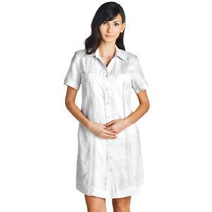 121b68d2 Mojito Lady Guayabera Dress 100% Linen Short Sleeve Sizes S to 2XL ...