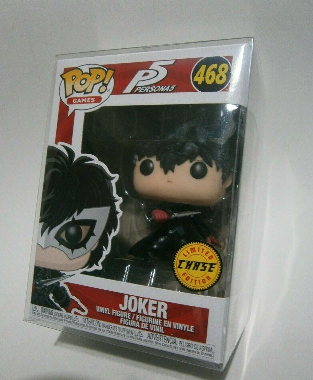 Funko POP  Games  Persona 5 - The Joker (Unmasked) CHASE  468  w Soft Protector