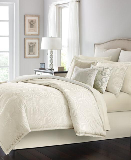 martha stewart bedding juliette ivory 10 pc queen comforter set ivory 14 g616 - Martha Stewart Bedding